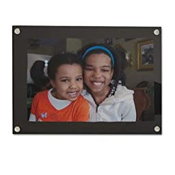 Universal One - 3 Pack - Acrylic Easel Back Magnetic Frame For 4 X 6 Insert Black \