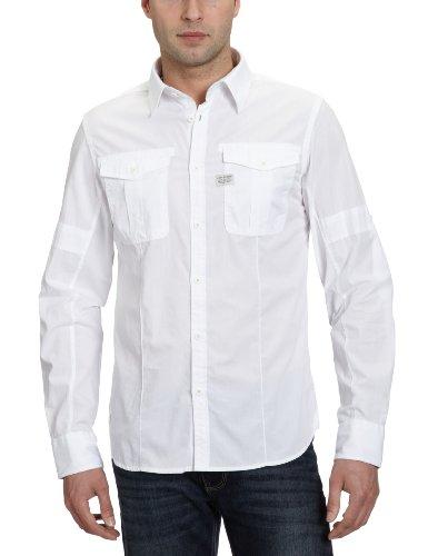 G-Star Men's Seafarer Roll-Up Shirt L/S - 83103 Casual Shirt White (White 110) 46