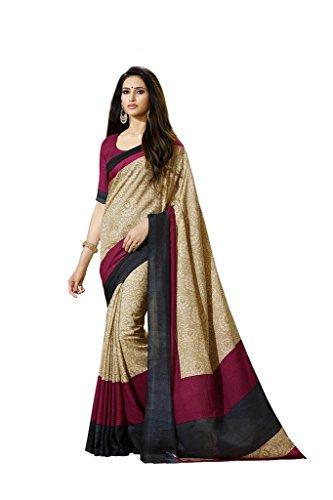 Vipul Rasipuram Silk Beige Floral Print Saree