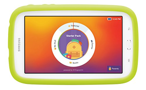 Samsung Galaxy Tab 3 Lite Kids Edition (7.0″ Cream White with Green Bumper)