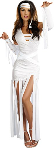 Dreamgirl Womens Sexy White Mummy Dearest Theme Party Halloween Costume