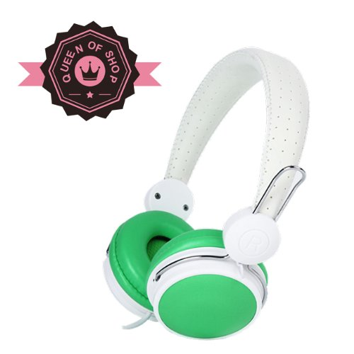 Kd460 Adjustable Circumaural 3.5Mm Over-Ear Stereo Headphone For Ipod, Mp3, Mp4, Pc And Iphone Music -With Microphone- Green
