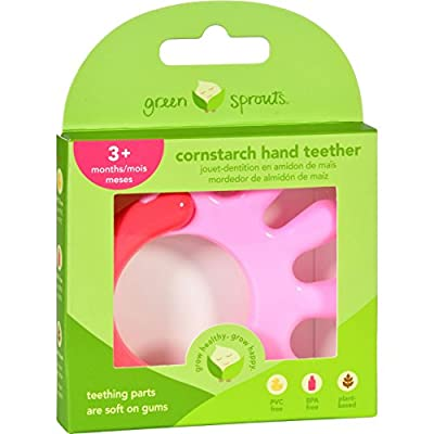 Green Sprouts Teether - Cornstarch - Hand - Pink - 1 Count