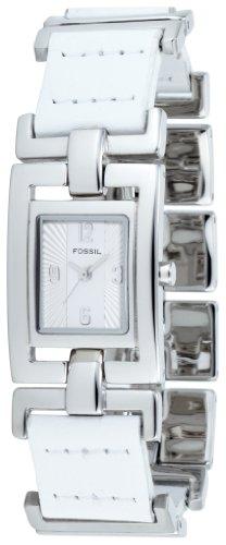 Fossil ES1983 - Reloj analógico de cuarzo para mujer con correa de acero inoxidable, color plateado