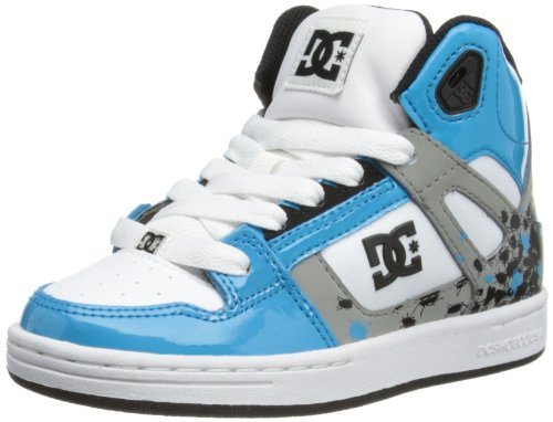 DC Shoes Boys Rebound SE B Shoe High-Top 303310A Blue/Grey 13 UK Child, 32 EU