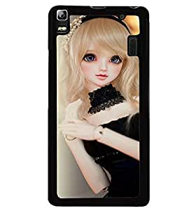 Printvisa Baby Doll Dressed Up In Black Back Case Cover for Lenovo K3 Note