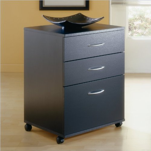 Nexera Mobile 3 Drawer Vertical Mobile Wood Filing
