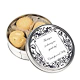 Personalized Black & White Wedding Cookie Tins - Candy & Snack Foods