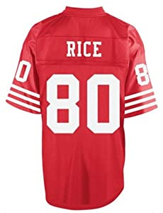Jerry Rice Throwback Jersey, San Francisco 49ers #80 NFL Mitchell & Ness Throwback RED Jerseys (Adult XXX-Large)