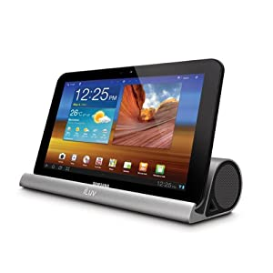 iLuv iSP245 Mo'Beats Portable Stereo Bluetooth Speaker Stand for Apple iPad (All Generations), Samsung Galaxy and All Thin Table