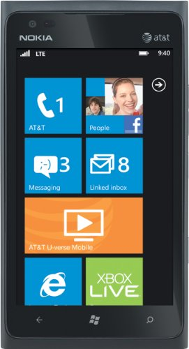 Nokia Lumia 900 4G Windows Phone, Black (AT&T) 