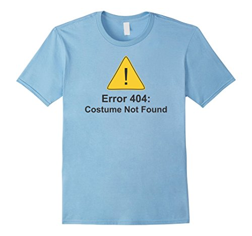 [Men's Error 404: Costume Not Found Tee Shirt Large Baby Blue] (Costume Not Found 404)