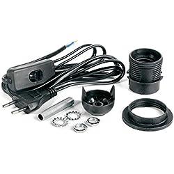Tischlampen-Anschlusskabel-Set E27 schwarz