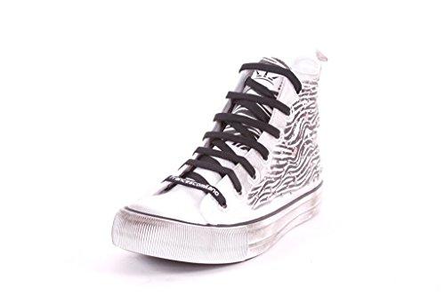 J483A FRANCESCO MILANO sneaker donna canvas (38, Bianco)