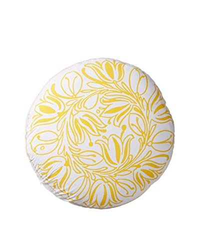 Allem Studio Bela Round Pillow, Yellow
