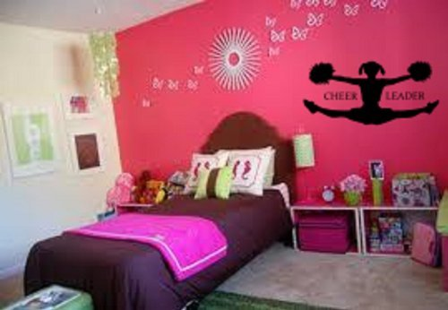 cheer-leader-wall-decal-25wide-x-12high-black-or-white
