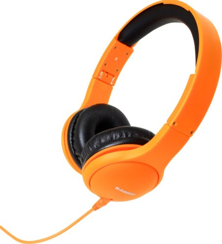Zumreed Zhp-600 Color Rich Foldable Stereo Headphones With Built-In Mic, Orange