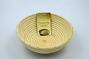 2 Pcs MASTERPROOFING® Round Banneton Basket (500g dough)-- 22*8.5cm