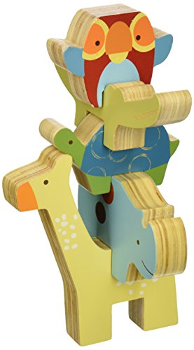 Skip Hop Giraffe Safari Stacking Animal Blocks, 18 Months Plus