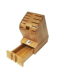 J.A. Henckels Miyabi Bamboo Block with Storage Drawer