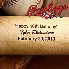 Buy Personalized Birthday Wooden Baseball Bat by PersonalizationMall.com