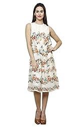 Ivory Georgette Dress