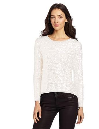 (便宜)美国大牌 Design History 女式时尚闪亮毛衣 两色 $28.61