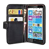 Pedea Wallet Flip Case for Nokia Lumia 1320 - Black