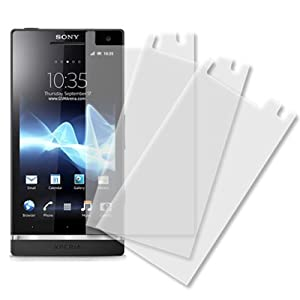 Sony Xperia S Screen Protector Cover, MPERO Sony Xperia S LT26i 3 Pack of Screen Protectors [MPERO Packaging]
