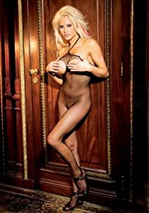 Seamless Fishnet Halter Bodystocking w/Open Bust and Crotch- Queen Size