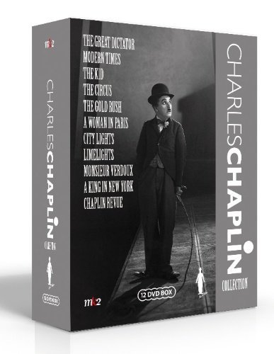 Charles Chaplin Collection - 12-DVD Box Set ( The Kid / A Woman of Paris / The Gold Rush / The Circus / City Lights / Modern Times / The Great Dictator / Monsieur Verdoux / Limelig [ Origen Sueco, Ningun Idioma Espanol ]