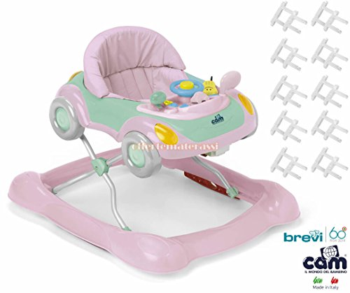 CAM Camminando rosa girello centro attività + 10 copriprese Brevi in plastica