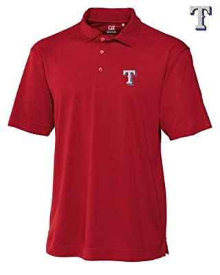 Texas Rangers Mens DryTec Genre Polo Shirt Cardinal Red