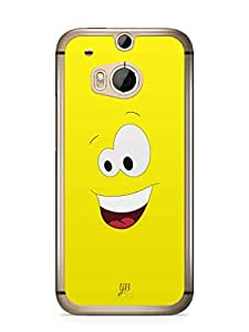 YuBingo Amazed Smiley Mobile Case Back Cover for HTC One M8