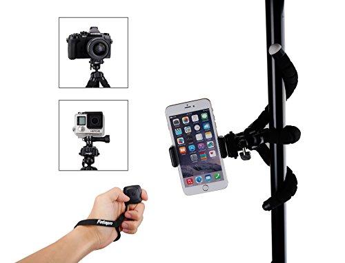 Fotopro Smartphone treppiede con Bluetooth scatto remoto per iPhone, Samsung und altri smartphone, fotocamera, Gopro (gambe più lunghe)