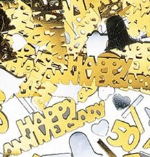 Golden Anniversary Table Confetti