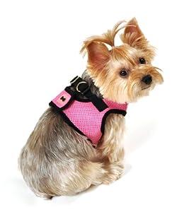SimplyWag Dog Body Harness, Medium, Pink