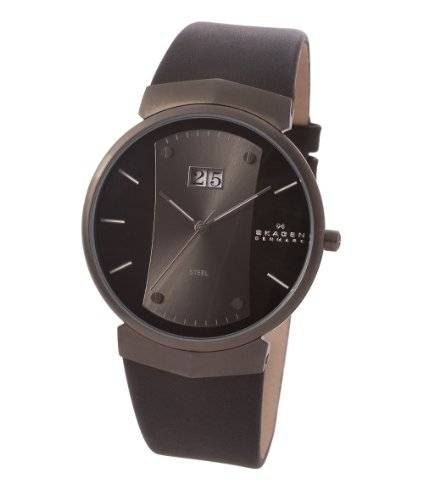 mahan best skagen 697xlmlmb montre homme quartz analogique bracelet cuir noir sale. Black Bedroom Furniture Sets. Home Design Ideas
