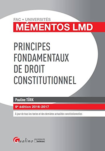 Principes fondamentaux de droit constitutionnel 2016-2017