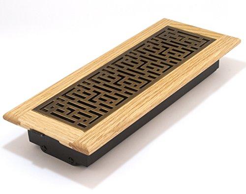4x12 inch framed oak wood floor register gfoab412 for 6x12 wood floor register