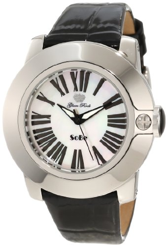 Glam Rock 0.96.2759 Unisex Quartz Watch with White Dial Analogue Display and Black Leather Strap GR31011