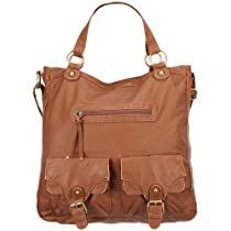 T-SHIRT & JEANS Faux Leather 2 Pocket Hobo Bag