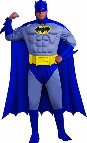Rubies Co Batman The Bold And The Brave Muscle Chest Batman Adult Plus Size at Gotham City Store