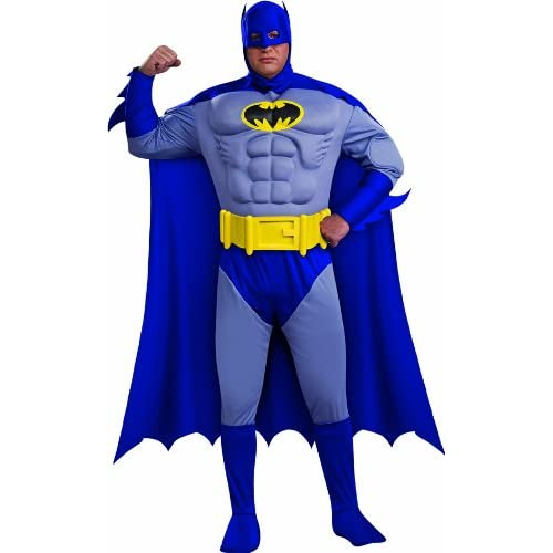 Batman: The Bold And The Brave Muscle Chest Batman Adult Plus Size Costume