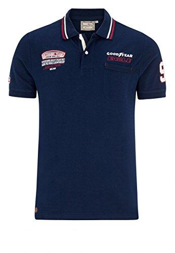 Goodyear Poloshirt Slim Fit Hills, Farbe:dark navy;Größe:XXL
