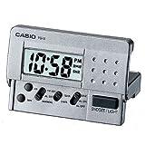 HIGH QUALITY CASIO DIGITAL LED DIGITAL TRAVEL MINI ALARM CLOCK WITH SNOOZE SILVER