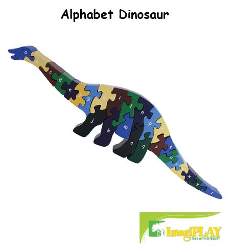 Cheap Fun ImagiPLAY Colorific Earth Alphabet Dinosaur Puzzle (#10012) (B002D3AQME)