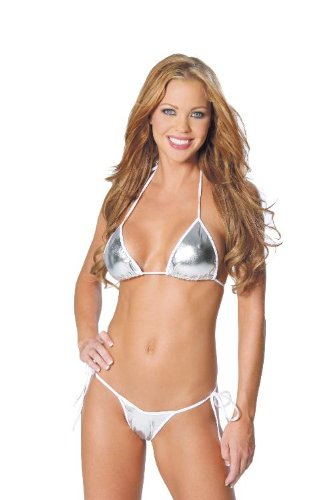 2 Piece Bikini Set: Halter Top and Matching Thong