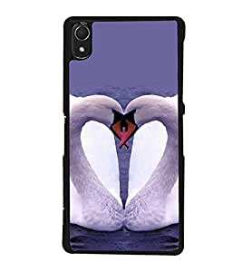 printtech Swan Heart Couple Back Case Cover for Sony Xperia Z3 , Sony Xperia Z3 D6653 D6603