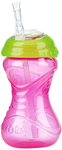 Nuby Clik-It Flex Straw Cup, 12 Months Plus